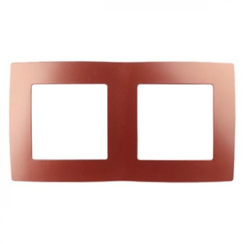 12-5002-24 ЭРА Рамка на 2 поста, Эра12, охра (10/100/2500) Б0019398