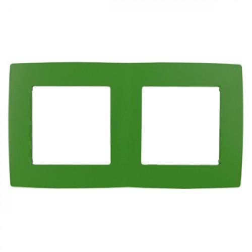 12-5002-27 ЭРА Рамка на 2 поста, Эра12, зелёный (10/100/3000) Б0019401