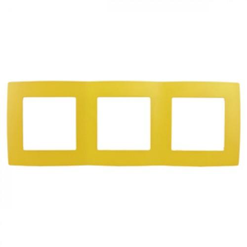 12-5003-21 ЭРА Рамка на 3 поста, Эра12, жёлтый (15/150/3000) Б0019404
