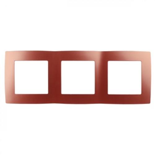 12-5003-24 ЭРА Рамка на 3 поста, Эра12, охра (15/150/2400) Б0019407
