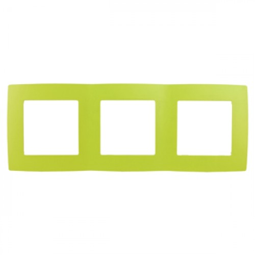 12-5003-26 ЭРА Рамка на 3 поста, Эра12, лайм (15/150/3750) Б0019409