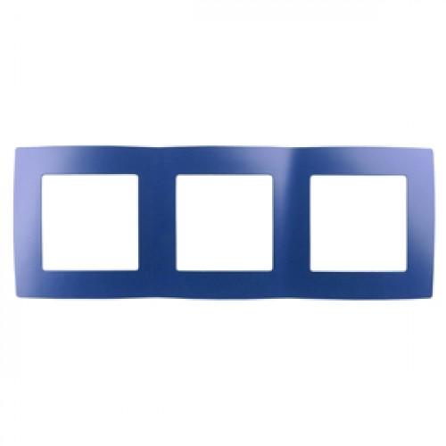 12-5003-29 ЭРА Рамка на 3 поста, Эра12, ультрамарин (15/150/3000) Б0019412