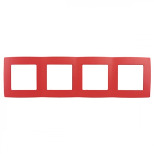 12-5004-23 ЭРА Рамка на 4 поста, Эра12, красный (10/100/2000) Б0019415