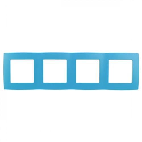 12-5004-28 ЭРА Рамка на 4 поста, Эра12, голубой (10/100/2000) Б0019431