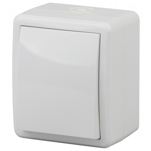 11-1402-01 ЭРА Выключатель с подсветкой IP54, 10АХ-250В, ОУ, Эра Эксперт, белый (16/160/2560) Б0020671