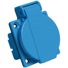 Розетка панельная РП10-3 скрытая с защитной крышкой 2Р+РЕ 16А 250В IP44 IEK PSR61-016-3