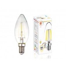 Светодиодная лампа Filament LED C37-F 6W E14 3000K (60W) 202114