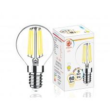 Светодиодная лампа Filament LED G45-F 6W E14 3000K (60W) 204214