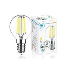 Светодиодная лампа Filament LED G45-F 6W E14 4200K (60W) 204215