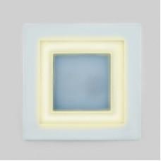 Светодиодный светильник DAYLIGHT S350/12+4 белый/теплый (3 режима) квадратный без стекла (D180/A150) *S350/12+4