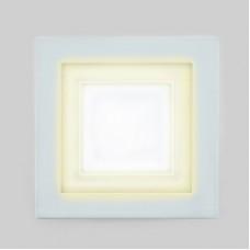 Светодиодный светильник DAYLIGHT S350/8+4 белый/теплый (3 режима) квадратный без стекла (D155/A130) *S350/8+4