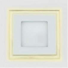Светодиодный светильник DAYLIGHT S450/10+3 белый/теплый (3 режима) квадратный со стеклом (D150/A105) S450/10+3