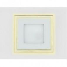 Светодиодный светильник DAYLIGHT S450/12+4 белый/теплый (3 режима) квадратный со стеклом (D180/A135) *S450/12+4