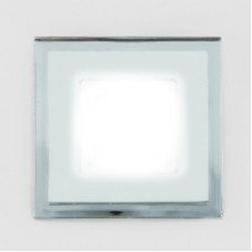 Светодиодный светильник DAYLIGHT S450/6+2 белый/теплый (3 режима) квадратный со стеклом (D130/A85) S450/6+2