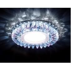 Встраиваемый точечный светильник со светодиодной лентой S220 PR хром/перламутровый хрусталь/MR16+3W(LED WHITE) S220 PR
