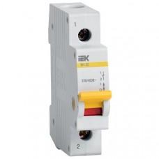 Выключатель нагрузки (мини-рубильник) ВН-32 1Р 63А ИЭК MNV10-1-063