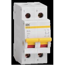 Выключатель нагрузки (мини-рубильник) ВН-32 2Р 100А ИЭК MNV10-2-100