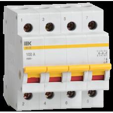 Выключатель нагрузки (мини-рубильник) ВН-32 4Р 100А ИЭК MNV10-4-100