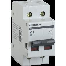 Выключатель нагрузки (мини-рубильник) ВН-32 2Р 40А GENERICA MNV15-2-040