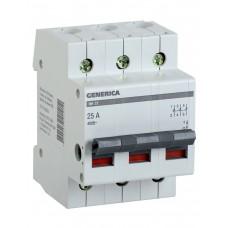Выключатель нагрузки (мини-рубильник) ВН-32 3Р 63А GENERICA MNV15-3-063