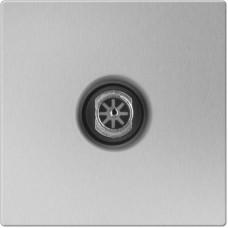 ТВ-розетка проходная / WL06-TV-2W (серебряный) a033755