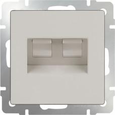Розетка телефонная RJ-11 и Еthernet RJ-45 / WL03-RJ11-45-ivory (слоновая кость) a028897