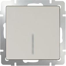 Выключатель одноклавишный проходной с подсветкой / WL03-SW-1G-2W-LED-ivory (слоновая кость) a030804