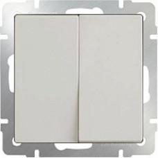 Выключатель двухклавишный проходной / WL03-SW-2G-2W-ivory (слоновая кость) a028887