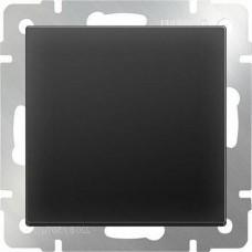 Перекрестный переключатель одноклавишный / WL08-SW-1G-C (черный матовый) a051611