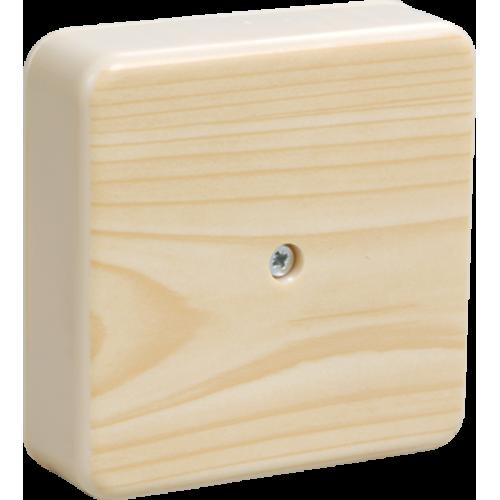 Коробка КМ41216-04 распаячная для о/п 75х75х28 мм сосна (6 клемм 6мм2) UKO10-075-075-028-K34