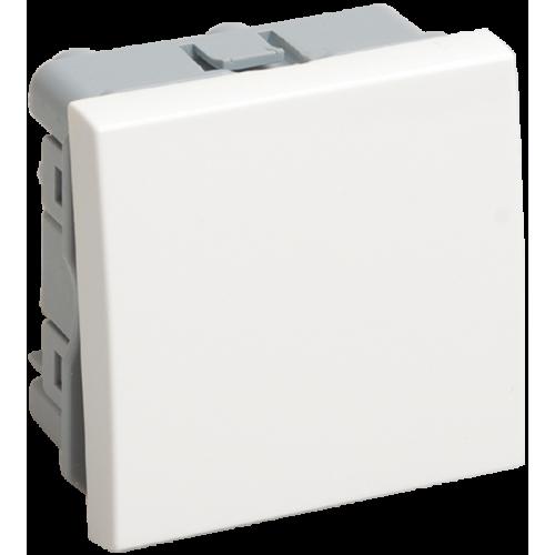 ВК4-21-00-П Выключатель проходной (переключатель) одноклавишный (на 2 модуля) ПРАЙМЕР белый IEK CKK-40D-PO2-K01