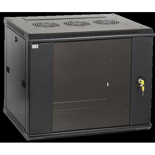 ITK Шкаф LINEA W 12U 600x450 мм дверь стекло, RAL9005 LWR5-12U64-GF