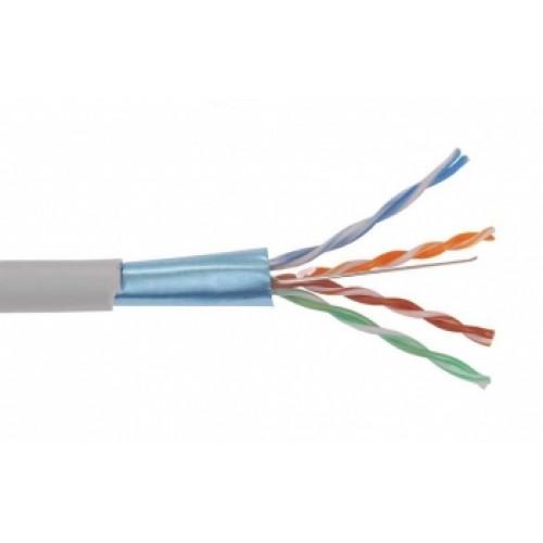 ITK Кабель связи витая пара U/UTP, кат.6 4x2х23AWG solid, LSZH, 305м, серый LC1-C604-121