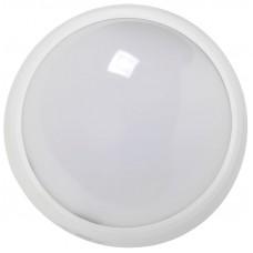 Светильник светодиодный ДПО 3010Д 8Вт 4500K IP54 круг белый  пластик с ДД IEK LDPO0-3010D-8-4500-K01