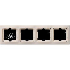 РГ-4-ККм Рамка 4местн. горизонт. КВАРТА (кремовый) EMK40-K33-DM