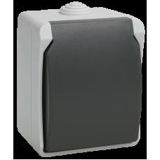 РСб20-3-ФСр Розетка одноместная с з/к для открытой установки ФОРС IP54 IEK ERS12-K03-16-54-DC
