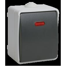 ВС20-1-1-ФСр Выключатель одноклавишный со свет. индикатором для открытой установки ФОРС IP54 IEK EVS11-K03-10-54-DC