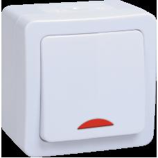 ВС20-1-1-ГПБ выкл 1кл с инд о/у IP54 (цвет клавиш: белый) ГЕРМЕС PLUS EVMP11-K01-10-54-EC