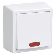 ВС20-1-1-ББ Выключатель одноклавишный  со свет.инд. для открытой установки