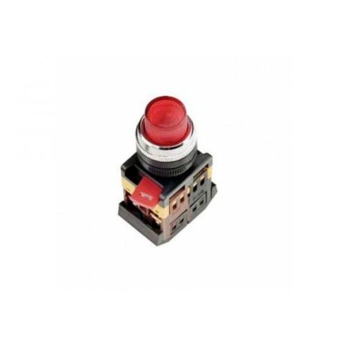 Кнопка ABLFP-22 красный d22мм неон/240В 1з+1р ИЭК BBT20-ABLFP-K04