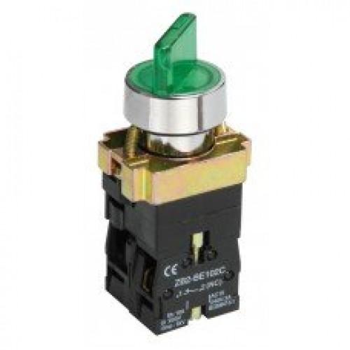 Переключатель LAY5-BK2365 2 положения зеленый ИЭК BSW90-BK-2-K06