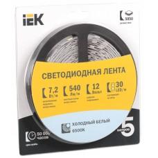 Лента LED 5м  блистер  LSR-5050W30-7,2-IP20-12V IEK LSR2-2-030-20-1-05