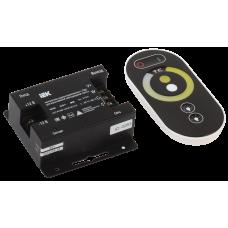 Контроллер с ПДУ радио (черный) W-WW 2 канала 12В, 6А, 144Вт IEK LSC1-W-WW-144-RF-20-12-B