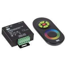 Контроллер с ПДУ радио (черный) RGB 3 канала 12В, 4А, 144Вт IEK-eco LSC2-RGB-144-RF-20-12-B