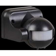 Датчик движения ДД 009 черный, макс. нагрузка 1100Вт, угол обзора 180град., дальность 12м, IP44, ИЭК LDD10-009-1100-002