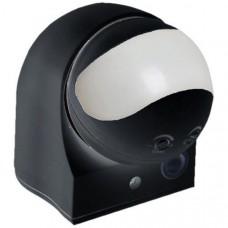 Датчик движения ДД 010 черный, макс. нагрузка 1100Вт, угол обзора 180град., дальность 10м, IP44, ИЭК LDD10-010-1100-002