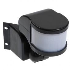 Датчик движения ДД 018В черный, макс. нагрузка 1100Вт, угол обзора 270град, дальность 12м, IP44, ИЭК LDD10-018B-1100-002