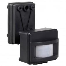 Датчик движения ДД 017 черный, макс. нагрузка 1100Вт, угол обзора 120град., дальность 12м, IP44, ИЭК LDD13-017-1100-002