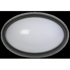 Светильник светодиодный ДПО 3021 8Вт 4500K IP54 овал пластик черный IEK LDPO0-3021-8-4500-K01