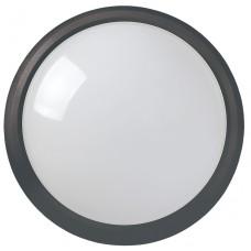 Светильник светодиодный ДПО 3031 12Вт 4500K IP54 круг пластик черный IEK LDPO0-3031-12-4500-K01